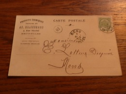 Entier Postal Ad Hildebrand Produits Chimiques Bruxelles 1904 - Belgique