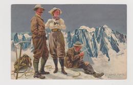 Cartolina Illustrata ERNST PLATZ,  Alpinismo   - F.p.  - Anni  '1900 - Altre Illustrazioni