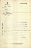 """2974 """" REGNO D'ITALIA-PREFETTURADELLA PROV. DI ALESSANDRIA-CIRCOLARE N°94 DEL19 OTTOBRE 1896 """"  ORIGINALE - Decreti & Leggi"""
