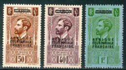 A.E.F. YVERT 22-24* SAVORGNAN DE BRAZZA NEUF AVEC CHARNIERE - A.E.F. (1936-1958)