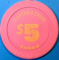 HK$5 Casino Chip. Star World, Macau. N73. - Casino