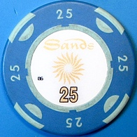 HK$25 Casino Chip. Sands, Macau. N73. - Casino