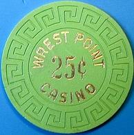 25¢ Casino Chip. Wrest Point, Sandy Point, Australia. N73. - Casino