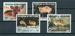 1985 Ivoorkust Complete Set WWF,animals,dieren Used/gebruikt/oblitere - Ivoorkust (1960-...)