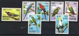 Collection Of Birds! Cambodia 1989. Animals / Parrots Set MNH (**) - Perroquets & Tropicaux