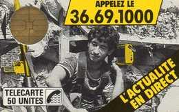 F2 - LE JOURNAL TELEPHONE - Bul 1 - 50 Unités LUXE - Sans Numérotation - France