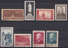 CHINA 1954/5, Kleines Lot (Stalin, Expo Beijing, Lenin, Long March), Serien Gestempelt - 1949 - ... République Populaire