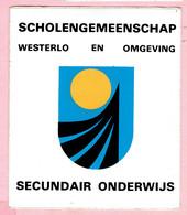 Sticker - Scholengemeenschap - Westerlo En Omgeving - Secundair Onderwijs - Autocollants