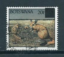 1996 Botswana Overprint Animals,dieren,tiere Used/gebruikt/oblitere - Botswana (1966-...)