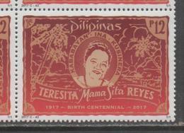 PHILIPPINES, 2017, MNH, COOKING, FOOD, TERESITA MAMA SITA REYES,1v - Food