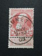 COB N 74 Oblitération Jumet 08 - 1905 Grosse Barbe