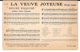 """Cpa """" La Veuve Joyeuse """" - Partition Musicale (Franz Lehär) . - Musique Et Musiciens"""