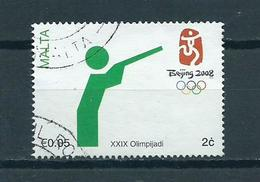 2008 Malta Olympic Games Peking Used/gebruikt/oblitere - Malta