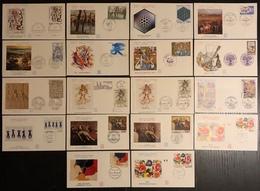 France FDC - Premier Jour - Lot De 18 FDC - Thématique Art Tableau Sculpture Tapisserie - FDC