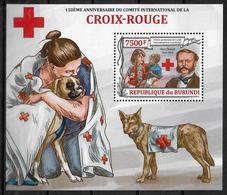 BURUNDI    BF 340  * * ( Cote 17e ) Croix Rouge Dunant Chiens - Henry Dunant