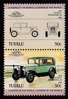 "2 TIMBRES NEUFS DE TUVALU - AUTOMOBILE ""CHEVROLET INTERNATIONAL SIX"", 1929, U.S.A. N° Y&T 283/284 - Voitures"