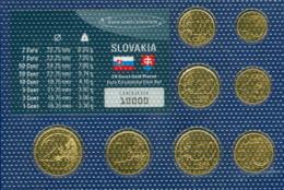 Slowakei Kursmünzensatz 2009 Vergoldet - Slovenia