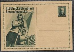 E575 -CZECHOSLOVAKIA-POSTCARD-1934- STAMP-MASARYK -50 H  - MNH** - Entiers Postaux