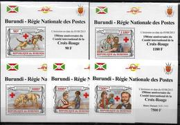 BURUNDI  Epreuve Luxe  N° 2002/05 BF 340 * * Dunant Croix Rouge Chiens - Henry Dunant