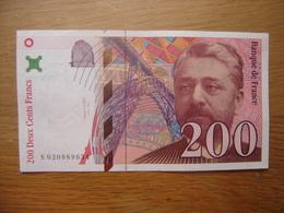 Billet 200 Francs Gustave EIFFEL 1999 J084504265 - 1992-2000 Dernière Gamme