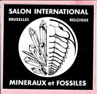 Sticker - SALON INTERNATIONAL - Bruxelles - Belgique - MINERAUX Et FOSSILES - Autocollants