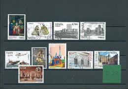 Spain 10x Stamps Used/gebruikt/oblitere(D-29) - 1931-Tegenwoordig: 2de Rep. - ...Juan Carlos I