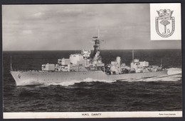 RPPC Modern Real Photo Postcard HMS Dainty Royal Navy Ship Boat RP PC - Warships
