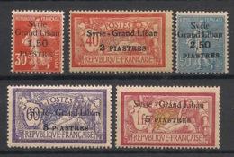 Syrie - 1923 - N°Yv. 95 - 96 - 97 - 98 - 99 - 5 Valeurs - Neuf Luxe ** / MNH / Postfrisch - Syria (1919-1945)