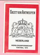 Sticker - Wereldkampioenschap Voetbal 1974 - G.V.A. - NEDERLAND - Autocollants