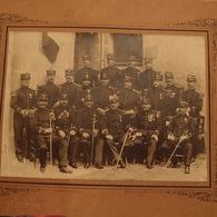 Photo Ancienne Militaire Officier Du Régiment Médailles Décoration Photographe De Guéret - Guerre, Militaire