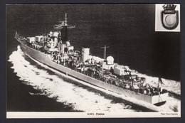 RPPC Modern Real Photo Postcard HMS Diana Royal Navy Ship Boat RP PC - Warships