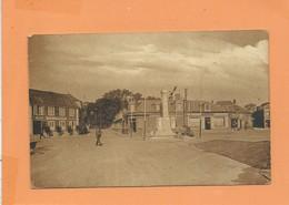 CPA Provenant D'un Carnet - Le Crotoy -(Somme) - Place Du Monument Aux Morts Et Hôtel Jeanne D'Arc - Le Crotoy