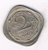 2 ANNAS 1940  INDIA/2090/ - Indien