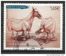 Oeuvre De Javier Balmaseda (chevaux) , Oblitéré, 1 ère Qualité, Oblitération Ronde, Année 2014 (haute Faciale) - Used Stamps