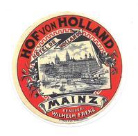 Adesivo Calcomania Sticker Hof Von Holland Hotel De Hollande Mainz Wilhelm Frenz Dimensioni Cm 6,5x6,5 Circa Forma Tonda - Adesivi