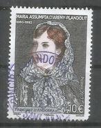 Maria Assumpta D'Areny-Plandolit (personnalitée Andorrane), Un Timbre Oblitéré 2017, 1 ère Qualité - Used Stamps
