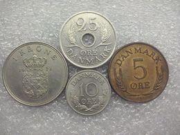 Denmark  5 Øre - 1 Krone 1968-71  , Frederik IX - Dinamarca