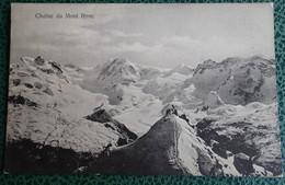 Cpa - Chaîne Du Mont Rose - Tampon Hôtel Belvédère - Gornergrat - VS Valais