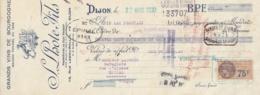 MANDAT S. LHOTE FILS - GRANDS VINS DE BOURGOGNE - CLOS VOUGEOT- DIJON - FISCAL - 1900 – 1949