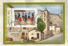 """Danse """"El Contrapas"""" Bloc-feuillet ,  Oblitéré,oblit.ronde., 1 ère Qualité - Used Stamps"""
