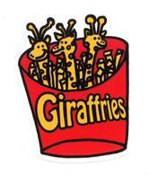 Adesivo Calcomania Sticker Giraffe Giraffries  Dimensioni Cm 6x7 Circa Forma Segue Silhouette Figura - Adesivi