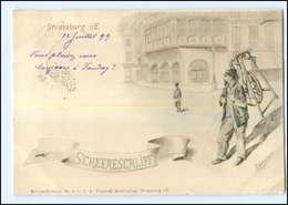 U5623/ Straßburg Scheereschliff Scherenschleifer Murrwaddelkarte Nr. 4 AK 1899 - Elsass