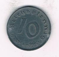 10 PFENNIG 1940 A   DUITSLAND /2095/ - 10 Reichspfennig