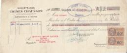 MANDAT USINES CHAUSSON - ASNIERES SUR SEINE - FISCAUX - 1900 – 1949