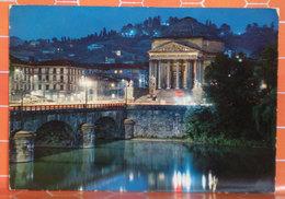 Torino Chiesa Gran Madre Notturno Cartolina - Churches