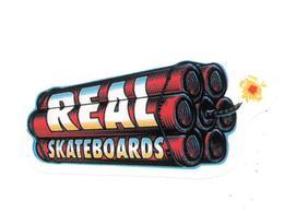 Adesivo Calcomania Sticker Dinamite Real Skateboards Dimensioni Cm 8x4 Circa Forma Segue Silhouette Figura - Adesivi