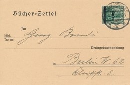 SAARBRÜCKEN - 1920 , Bücherzettel Nach Berlin - Interi Postali