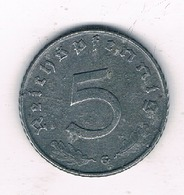 5 PFENNIG 1941 G     DUITSLAND /2100/ - 5 Reichspfennig