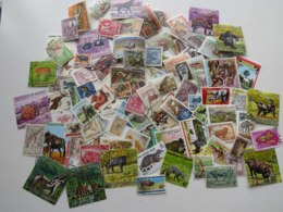 STAMPS - 100 DIFFERENT STAMPS WITH ANIMALS - Timbres