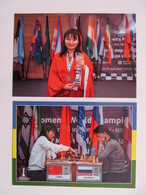 2 PCs Ju Wenjun, China. Women's World Chess Champion, 2018 In Khahty-Mansiysk - Schach  - Ajedrez - Echecs - Echecs